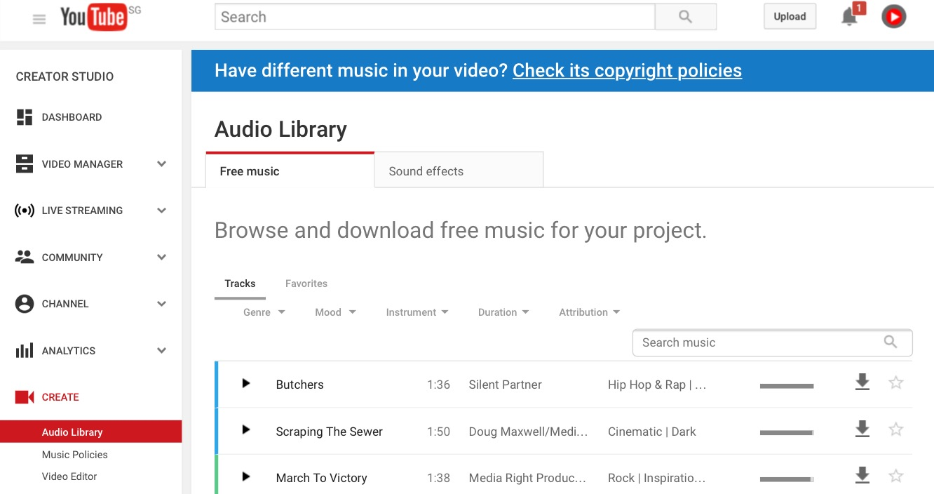 Why Youtube Audio Library Is A Good Source Of Free Music Videolane Com