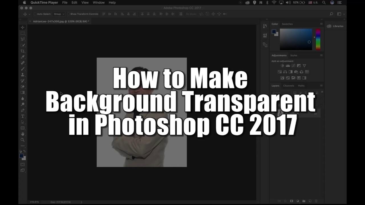 Photoshop. How to make image transparent