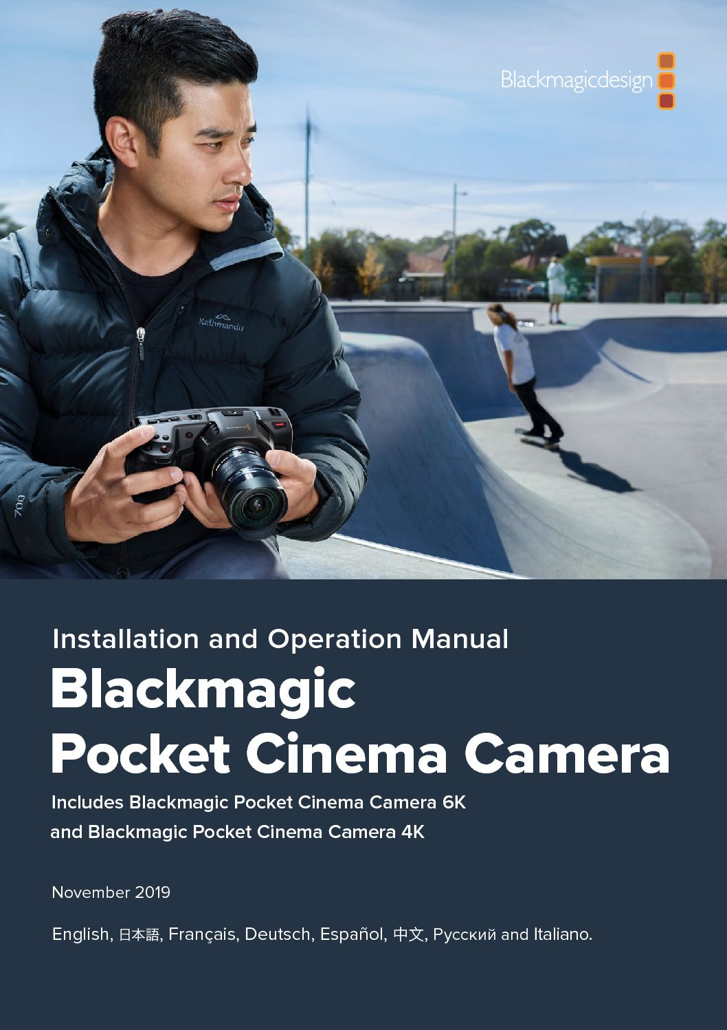 Blackmagic Design Pocket Cinema Camera Bmpcc 6k User Manual Videolane Com